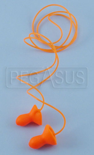 Large photo of Contoured Ear Plugs with Cord, Pegasus Part No. 2197
