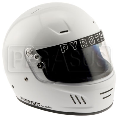 Large photo of Pyrotect Full Face Helmet Snell SA2010, Flat Black,  XXLarge, Pegasus Part No. 2247-S10-Size-Color