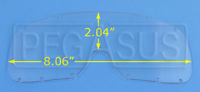 Large photo of Anti-Scratch Lexan Lens for Large Goggles (#2268), Pegasus Part No. 2270-Tint
