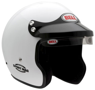 Large photo of Bell Sport Mag Helmet, Snell SA2010 Approved, White, XXSmall, Pegasus Part No. 2308-S10-Size-Color