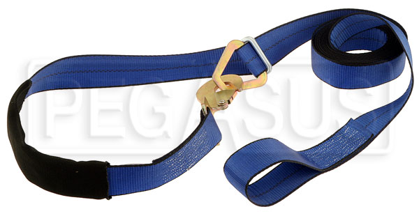 Large photo of 16 foot Tow Strap with 2 inch Webbing Width, Transport Rated, Pegasus Part No. 2352