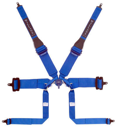 Large photo of Willans Silverstone 6 HANS Formula Harness, Red, Old Date, Pegasus Part No. CL2379-001-RED-DATE
