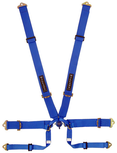 Large photo of Willans Club 6x6 Saloon Harness w D-Ring Lap Belt, 3x3, FIA, Pegasus Part No. 2379-002-Color