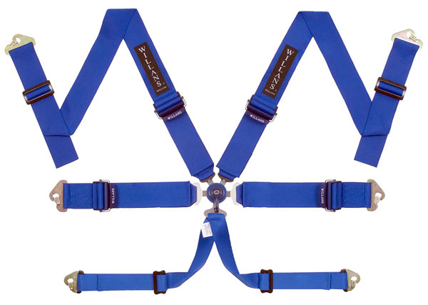 Large photo of Willans Silverstone LDV6 Saloon Harness, 3x3, FIA, Pegasus Part No. 2379-007-Color