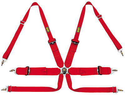 Large photo of OMP Sedan/HANS Camlok Competition Harness - FIA Approved, Pegasus Part No. 2379-206-Color
