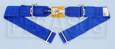 Large photo of Simpson Latch & Link Wrap Mount Lap Belt, 24