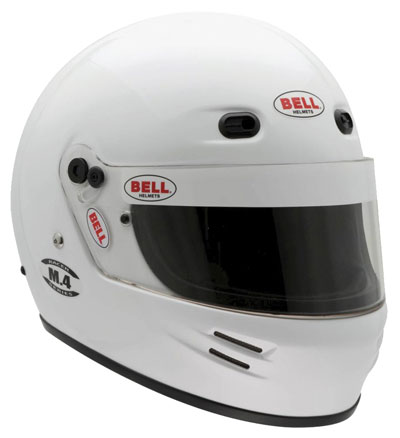 Large photo of Bell M.4 Helmet, Snell SA2010 Approved, White, size 4XL, Pegasus Part No. 2392-S10-Size-Color