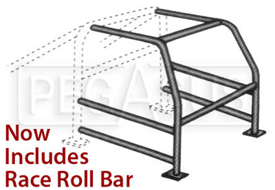 Large photo of Complete U-weld Cage Kit (now with rollbar), Pegasus Part No. 2405-Diameter-TubeType