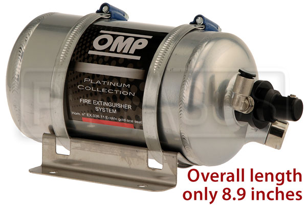 Large photo of (H) OMP AFFF Fire System, 0.9L End Valve Bottle - Electric, Pegasus Part No. 2465-008