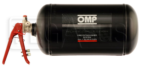 Large photo of (H) OMP Steel Bottle Only for 4.25L Mech System, End Valve, Pegasus Part No. 2465-111