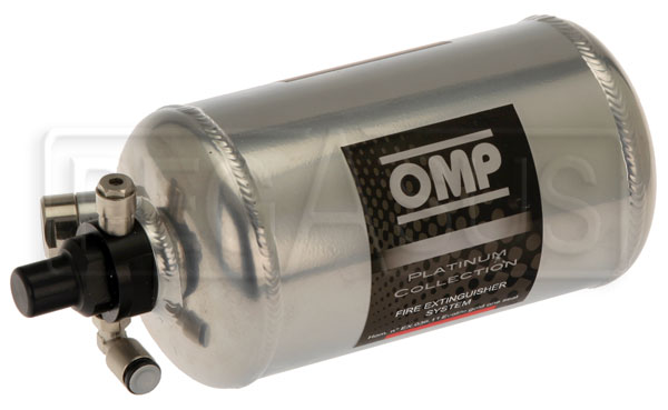 Large photo of (H) OMP Aluminum Bottle Only for 0.9L Elec System, End Valve, Pegasus Part No. 2465-116