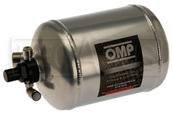 Large photo of (H) OMP Aluminum Bottle Only for 1.3L Elec System, End Valve, Pegasus Part No. 2465-117