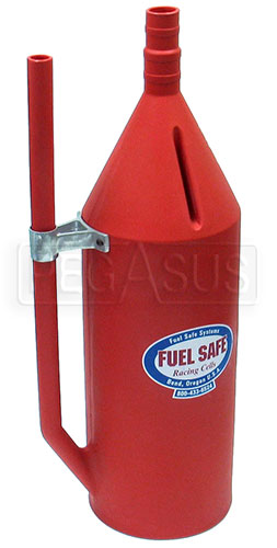 Large photo of Fuel Safe 11 Gallon Dump Can,  Red Plastic, Pegasus Part No. 2553-Size