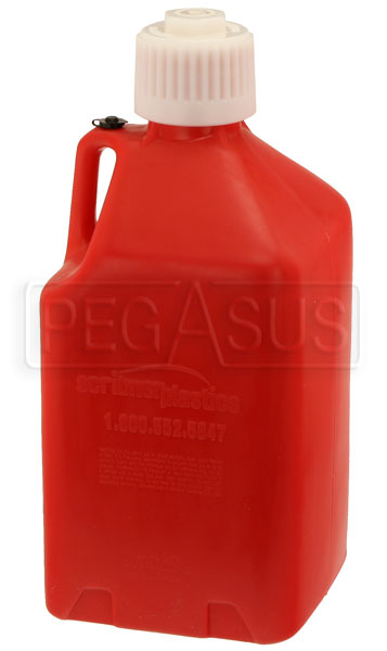 Large photo of Scribner 5 Gallon Square Utility Jug with Cap, Pegasus Part No. 2558-Color
