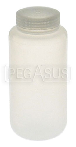 Large photo of 1 Quart Hi-Temp Plastic Catch Bottle, Pegasus Part No. 2581