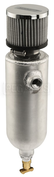 Large photo of Canton Breather/Catch Tank with Filter, 3/8 NPT, 1.5 Pint, Pegasus Part No. 2583