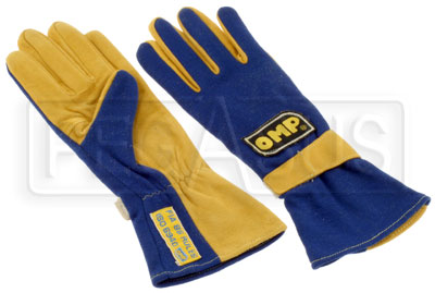 Large photo of OMP Marathon Nomex Driving Gloves, FIA 86 / ISO 6940, Pegasus Part No. 2615-Size-Color