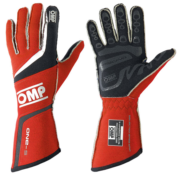 Large photo of OMP One-S Nomex Driving Glove, FIA 8856-2000, Pegasus Part No. 2627-002-Size-Color