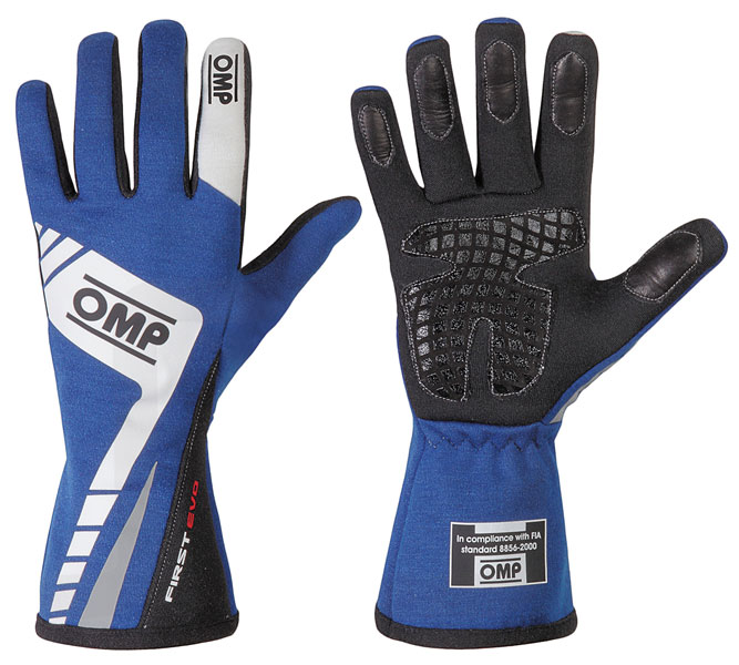 Large photo of OMP First Evo Driving Glove, FIA 8856-2000, Pegasus Part No. 2627-004-Size-Color