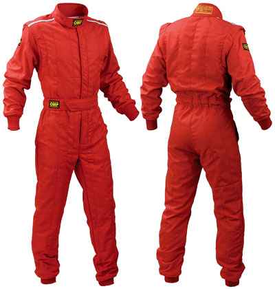 Large photo of OMP First 2 Drivers Suit, 2 Layer Nomex, FIA 8856-2000, Pegasus Part No. 2631-Size-Color