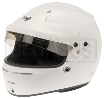 Large photo of OMP Speed 10 HANS Helmet, Snell SA2010 Approved, Pegasus Part No. 2776-S10-Size-Color