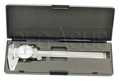 Large photo of 6 Inch Dial Caliper with Case, Pegasus Part No. 2967
