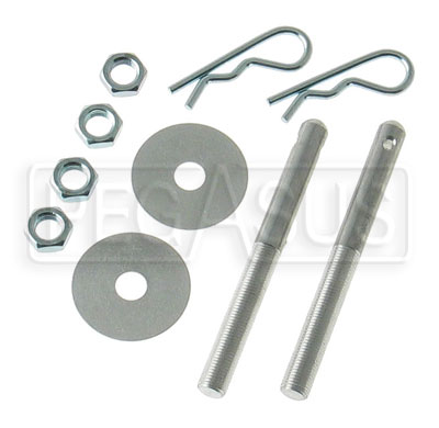 Large photo of 3/8 inch  Aluminum Hood Pin, Set of 2, Pegasus Part No. 3035