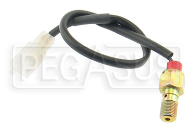 Large photo of Single Banjo Bolt w/ Brake Light Switch, 10mm x 1.00 Thread, Pegasus Part No. 3242-015