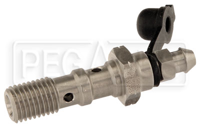Large photo of Double Banjo Bolt with Bleed Screw, 10mm x 1.25 Thread, SS, Pegasus Part No. 3242-043