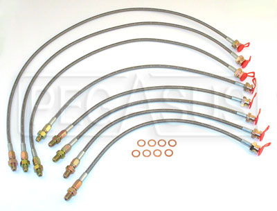 Large photo of Spec Racer -3 PTFE Brake Hose Kit, Pegasus Part No. 3267-Size
