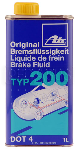Large photo of ATE Type 200 (Amber) DOT 4 Racing Brake Fluid, Pegasus Part No. 3327-Quantity