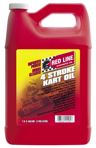 Large photo of Red Line 4 Cycle Kart Oil, Pegasus Part No. 3341-Quantity