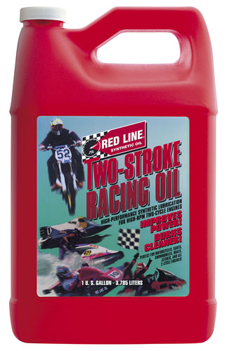 Large photo of Red Line Synthetic 2-Stroke Racing Oil, Gallon, Pegasus Part No. 3342-Quantity