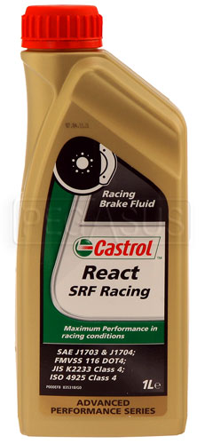Large photo of Castrol SRF Synthetic Racing Brake Fluid, Pegasus Part No. 3343-Quantity