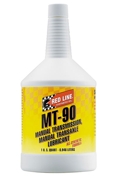 Large photo of Red Line MT-90 Manual Transmission Lubricant (75W90 GL-4), Pegasus Part No. 3344-Quantity