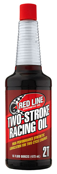 Large photo of Red Line Synthetic 2-Stroke Racing Oil, 16 oz Bottle, Pegasus Part No. 3347-Quantity