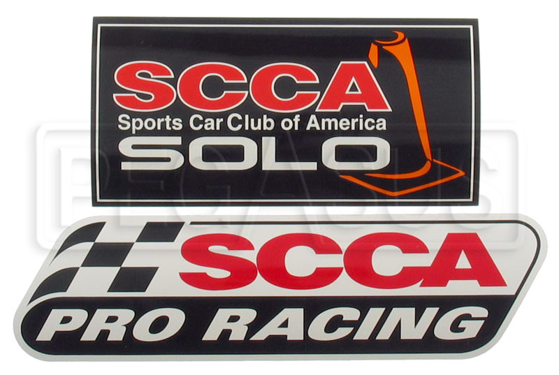 Large photo of SCCA Car Decals: Club, Solo or Pro, Pegasus Part No. 3358-Type