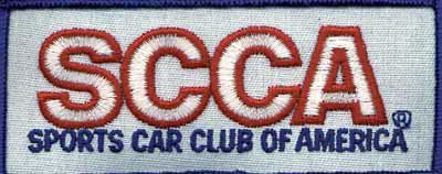 Large photo of SCCA Cloth Patch, Blue Border (for Drivers suit), Pegasus Part No. 3359-BLUE