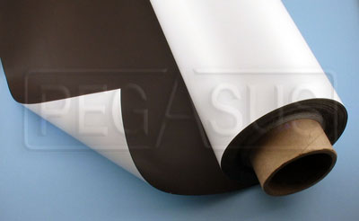 Large photo of Magnetic Material 24 inch wide  White, per linear ft., Pegasus Part No. 3363-Size