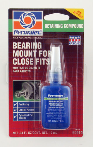 Large photo of Permatex Green Retaining Compound (Bearing Mount), 10ml, Pegasus Part No. 3373