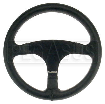 Large photo of Classic Racing Steering Wheel, Smooth Leather, Pegasus Part No. 3401-Size