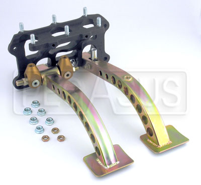 Large photo of Tilton Dual Pedal Assembly, 6.2/1 Ratio,  Firewall Mount, Pegasus Part No. 3533