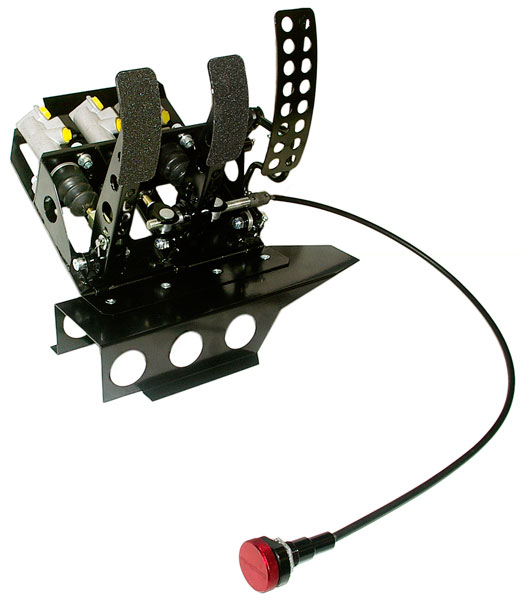 Large photo of OBP Track Pro 3-Pedal Box w MC & Bias Cable, BMW E36 LHD, Pegasus Part No. 3537-032