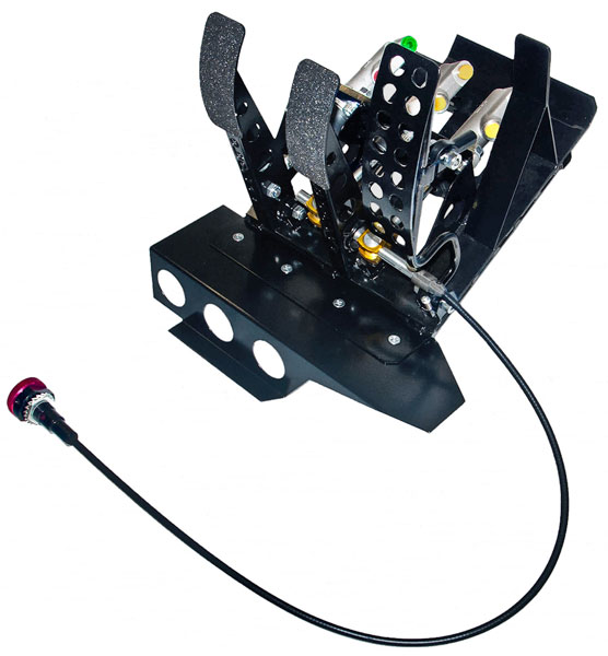 Large photo of OBP Track Pro 3-Pedal Box, DBW w MC & Bias Cbl, BMW E46 LHD, Pegasus Part No. 3537-033