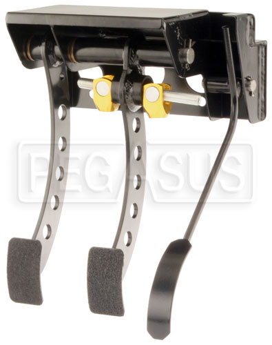 Large photo of OBP Firewall Mount 3-Pedal Assembly, w/o MC, Pegasus Part No. 3537-081