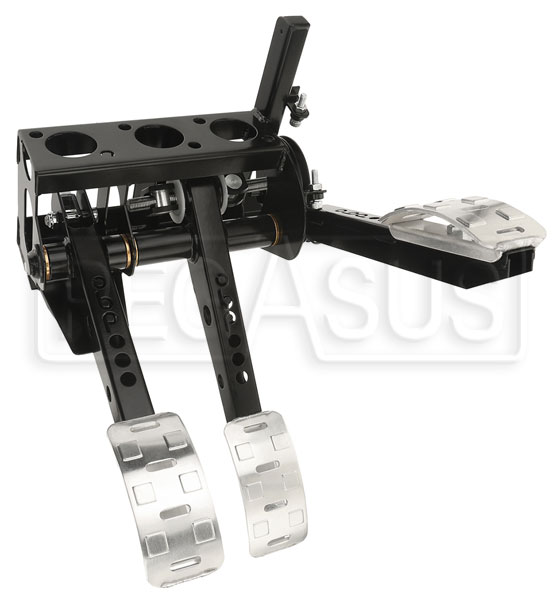 Large photo of OBP Pro-Race Overhung Mount 3-Pedal Assy, w/o MC, Pegasus Part No. 3537-106