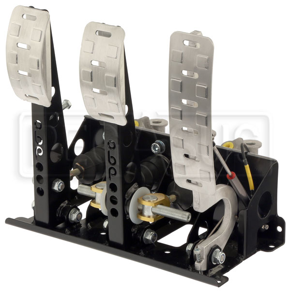 Large photo of OBP Pro-Race V2 3-Pedal Box, Floor Mount, DBW, w/ MC, Pegasus Part No. OBP-0003PRDB