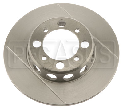 Large photo of Brake Rotor, DB1/DB3, VD 4-bolt (LD19), Grooved & Lightened, Pegasus Part No. 3545-11
