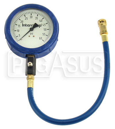Large photo of Intercomp 4 inch Glow in Dark Tire Pressure Gauge,  0-60 psi, Pegasus Part No. 360060
