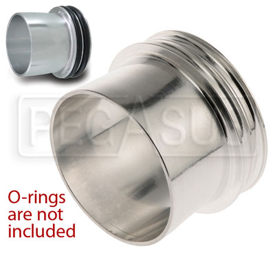 Large photo of Quick Disconnect Male Ferrule for 2-pc or 3-pc QDC, Pegasus Part No. 3608-010-Size